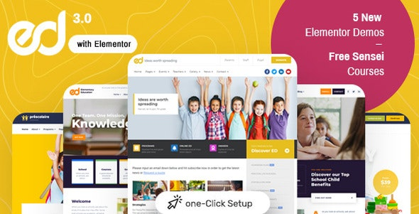 [GET] Nulled Ed School v3.5.0 - Education WordPress Theme