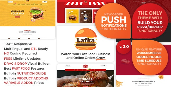 [GET] Nulled Lafka v2.4.1 - WooCommerce Theme for Burger Pizza Fast Food Delivery & Restaurant WordPress