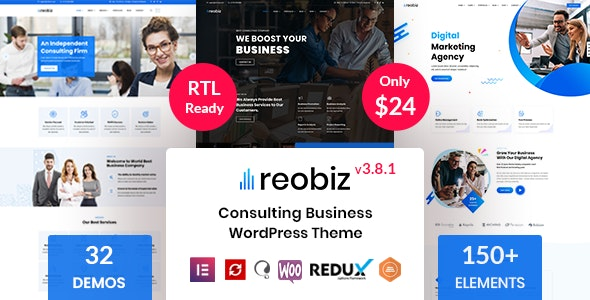 [GET] Nulled Reobiz v3.8.1 - Consulting Business WordPress Theme