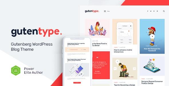 [GET] Nulled Gutentype v2.0 - 100% Gutenberg WordPress Theme