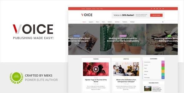 [GET] Nulled Voice v2.9.8 - Clean News Magazine WordPress Theme