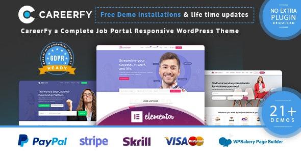 [GET] Nulled Careerfy v5.6.0 - Job Board WordPress Theme