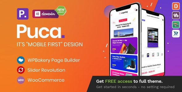 [GET] Nulled Puca v2.2.11 - Optimized Mobile WooCommerce Theme