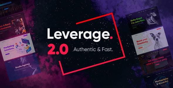 [GET] Nulled Leverage v2.0.7 - Creative Agency & Portfolio WordPress Theme