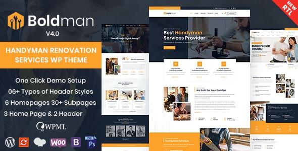 [GET] Nulled Boldman v4.1 - Handyman Renovation Services WordPress Theme