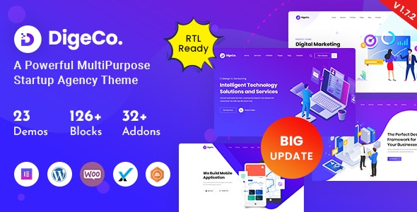 [GET] Nulled Digeco v1.7.2 - Startup Agency WordPress Theme