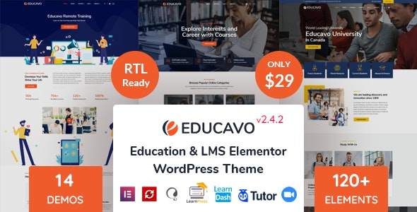 [GET] Nulled Educavo v2.4.2 - Online Courses & Education WordPress Theme