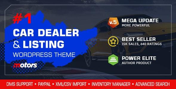[GET] Nulled Motors v5.0 - Automotive, Cars, Vehicle, Boat Dealership WordPress Theme