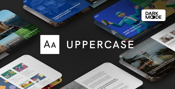 [GET] Nulled Uppercase v1.0.8 - WordPress Blog Theme with Dark Mode
